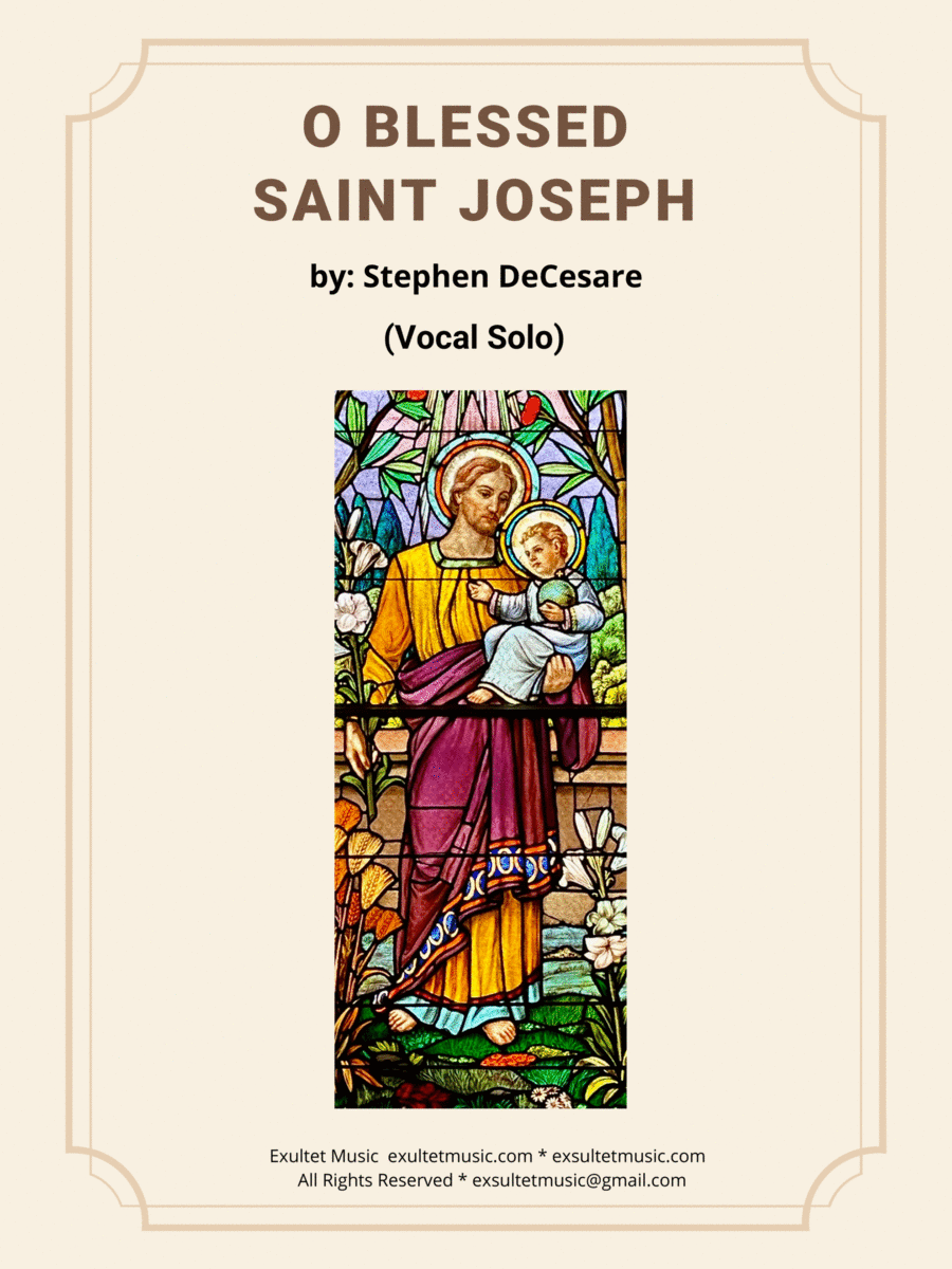 O Blessed Saint Joseph