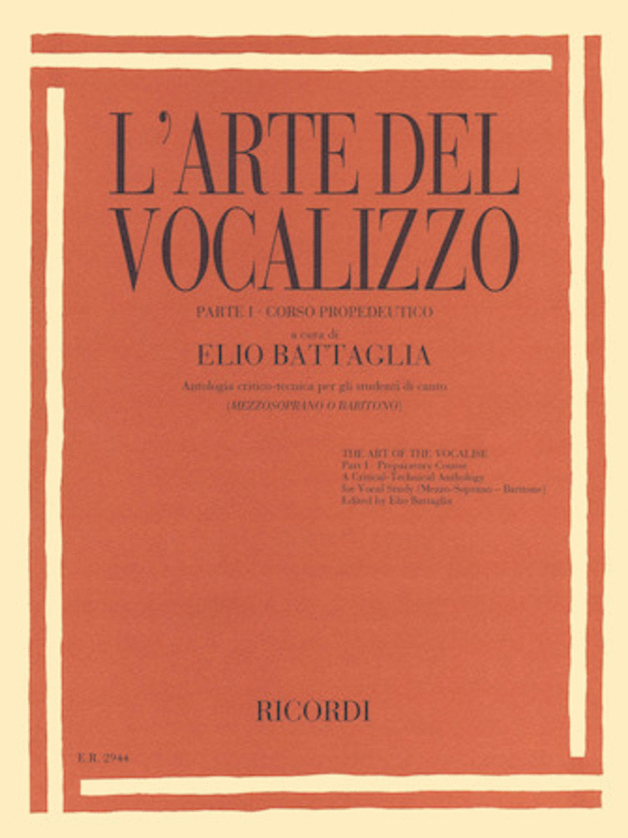 The Art of the Vocalise - Part I