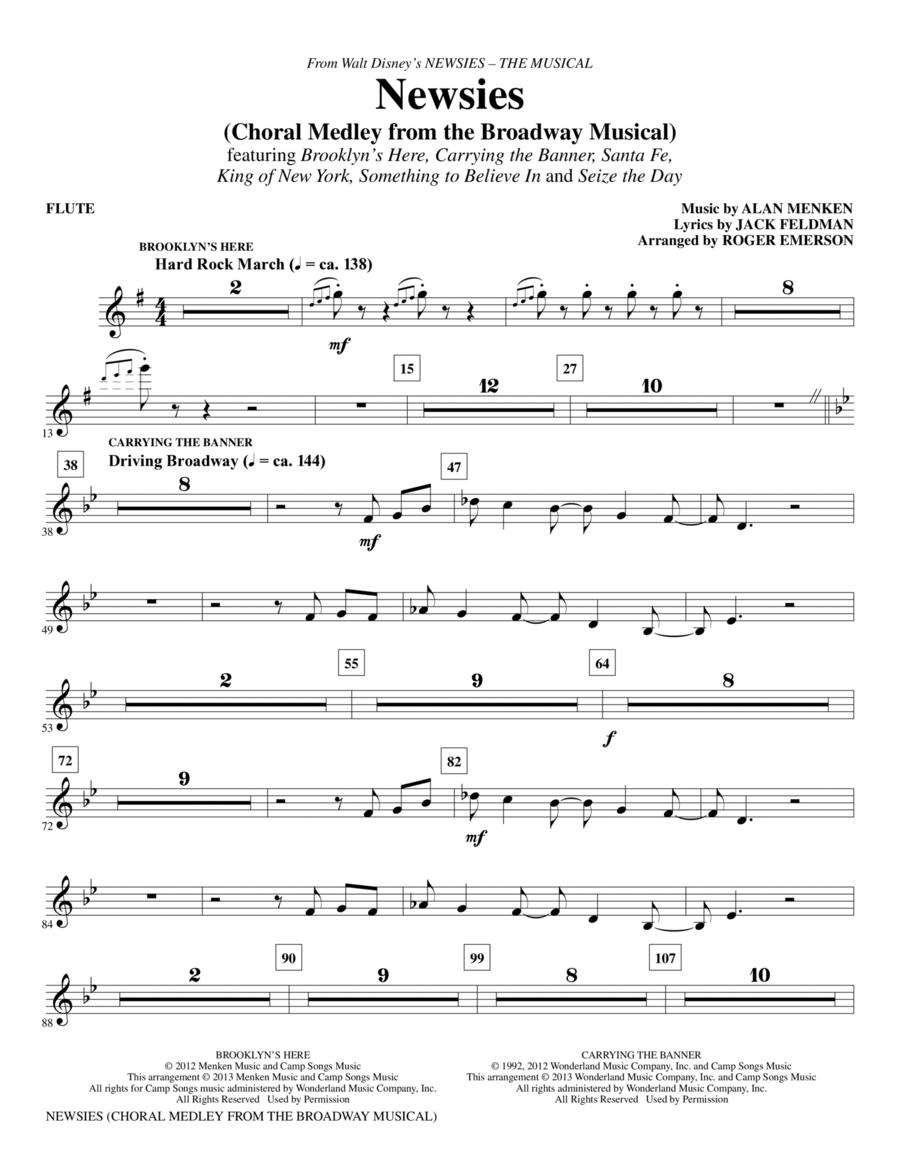Newsies (Choral Medley) - Flute
