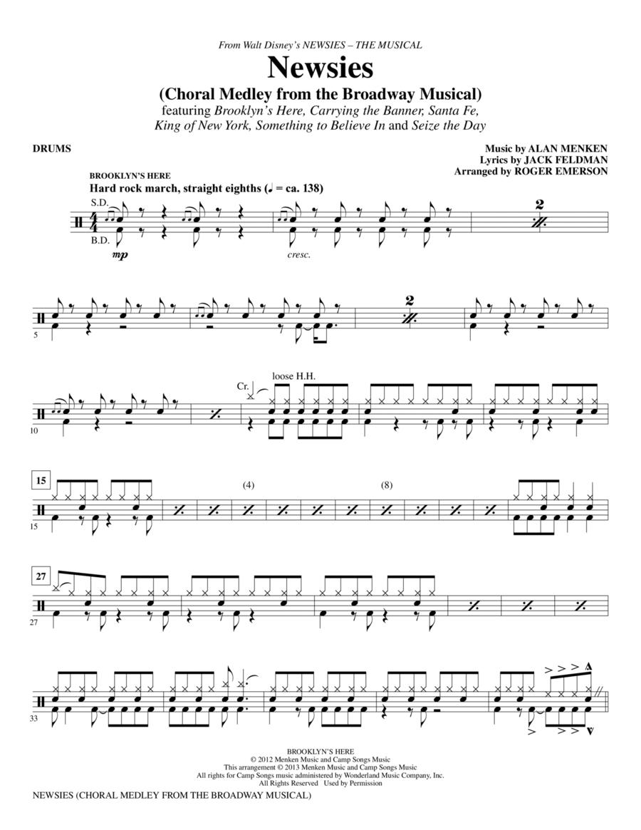Newsies (Choral Medley) - Drums