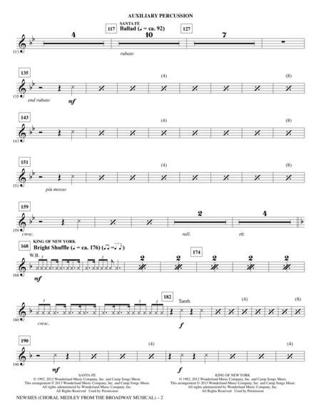 Newsies (Choral Medley) - Aux Percussion