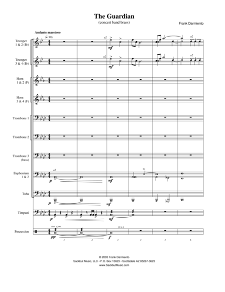The Guardian (concert band brass version)