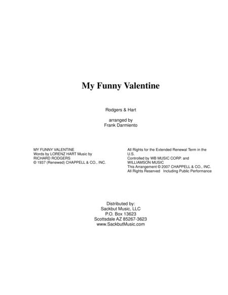 My Funny Valentine (low brass quartet)