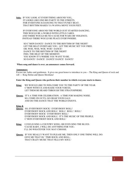 Sleeping Beauty: the musical (Princess Aleia)