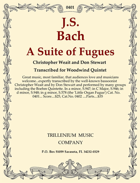 A Suite of Fugues (score)