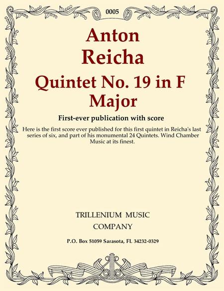 Quintet No. 19 in F Major (score)