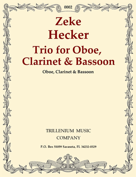 Trio for Oboe, Clarinet & Bassoon