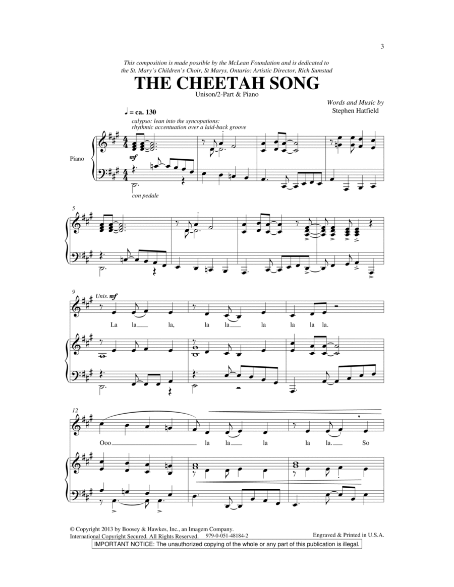 The Cheetah Song