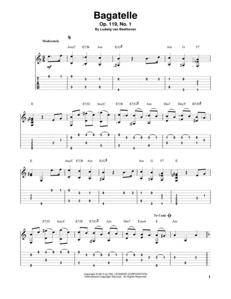 Bagatelle, Op. 119, No. 1