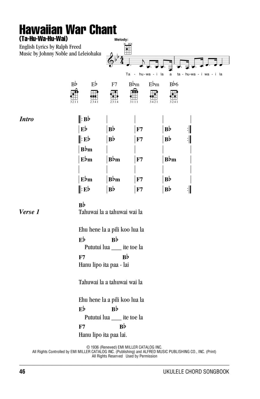Hawaiian War Chant (Ta-Hu-Wa-Hu-Wai)