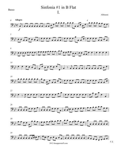 Sinfonia #1 in B Flat Major Movement 1