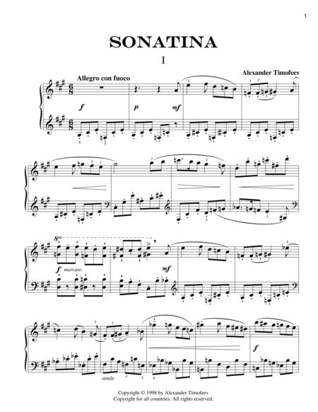 Sonatina for Piano (1998)