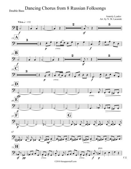 8 Russian Folksongs Dancing Chorus