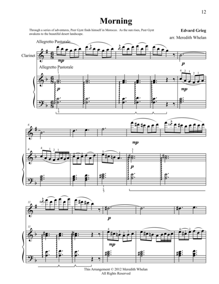 Classical Duets for Clarinet & Piano:  Morning