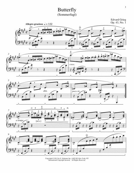 Butterfly (Sommerfugl), Op. 43, No. 1