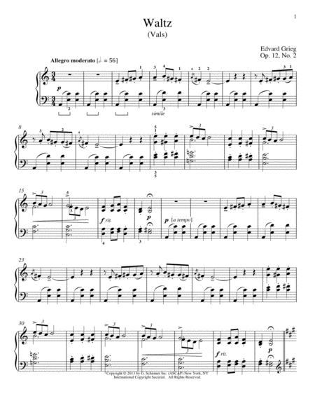 Waltz (Vals), Op. 12, No. 2
