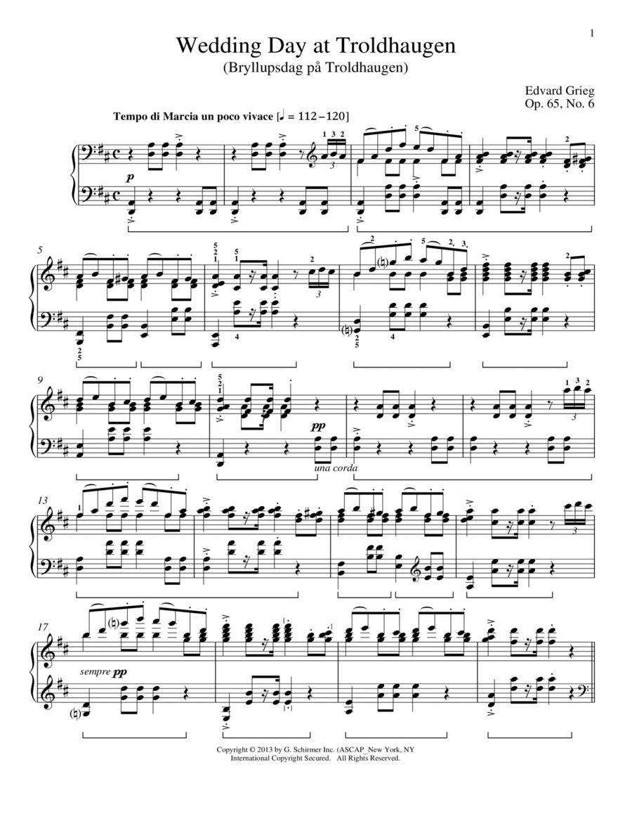 Wedding Day At Troldhaugen (Bryllupsdag pa Troldhaugen), Op. 65, No. 6