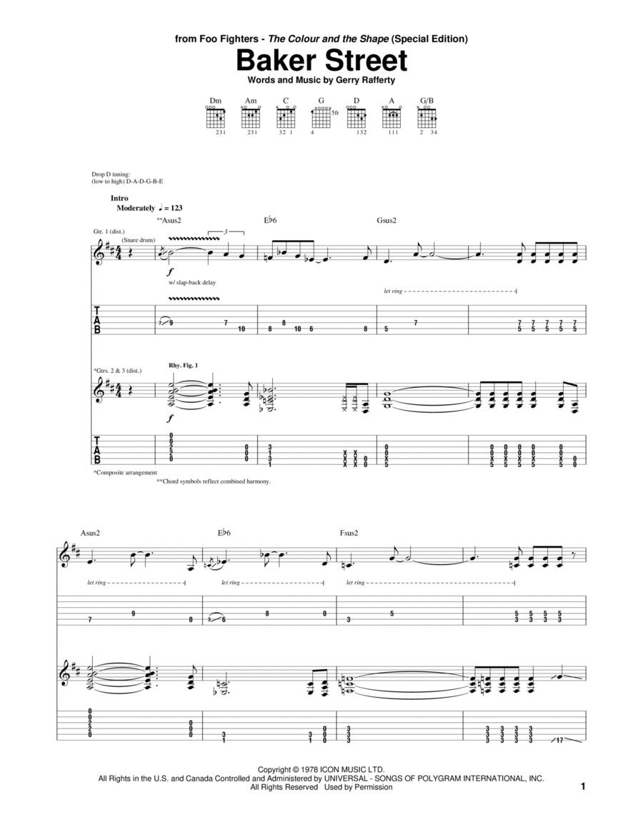 Baker Street Sheet Music Gerry Rafferty PDF Free Download
