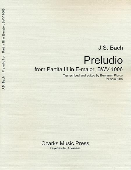Preludio from Partita III in E major, BWV 1006