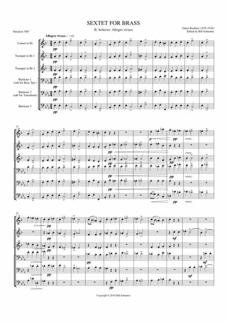 Brass Sextet: II - Scherzo: Allegro Vivace