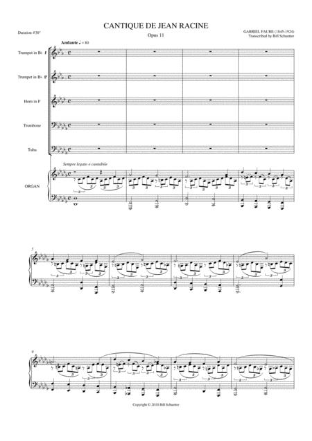 Cantique De Jean Racine, Op 11