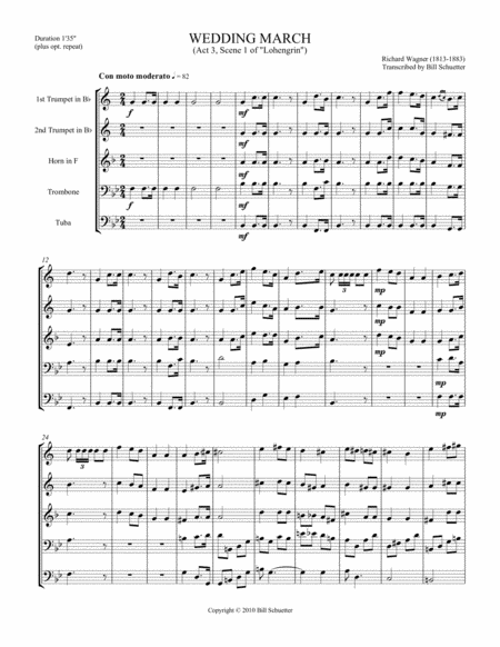 Download Wedding March From Lohengrin Sheet Music By Richard