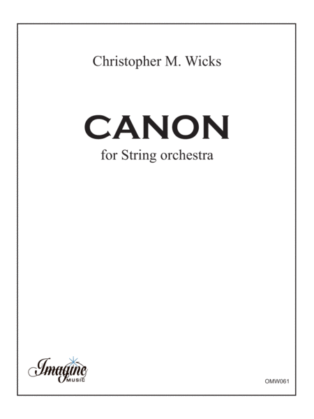 Canon for String Orchestra