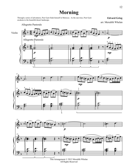 Classical Duets for Violin & Piano:  Morning