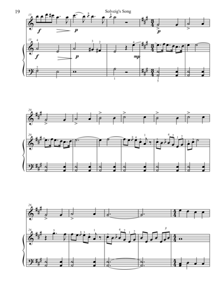 Classical Duets for Flute & Piano:  Solveig's Song