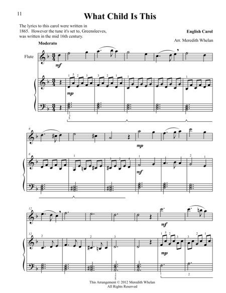 Christmas Duets for Flute & Piano:  What Child is This