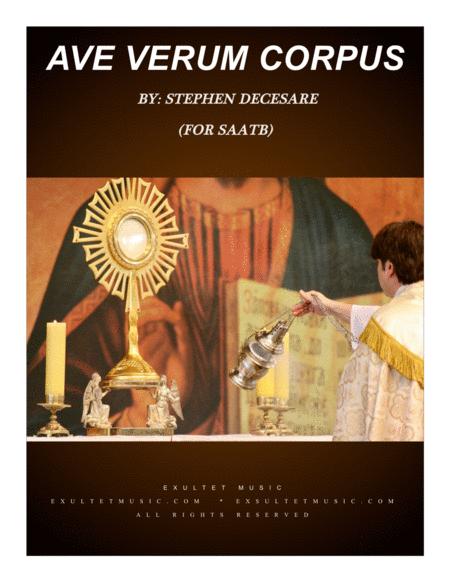 Ave Verum Corpus (for SATB choir)