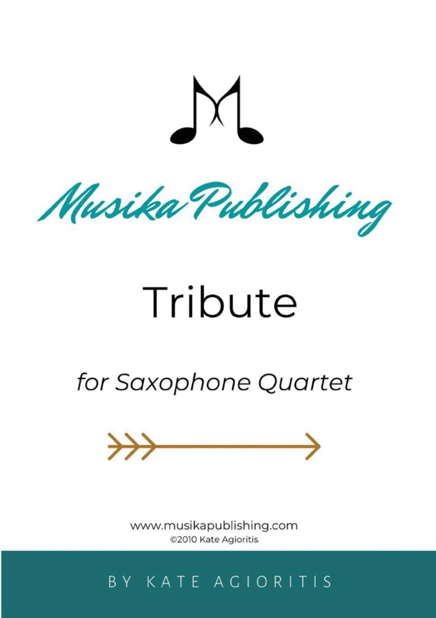 Tribute - for Saxophone Quartet