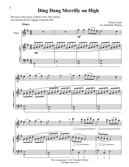 Christmas Duets for Violin & Piano:  Ding Dong Merrily on High