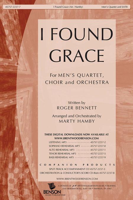 I Found Grace Split Track Accompaniment Cd