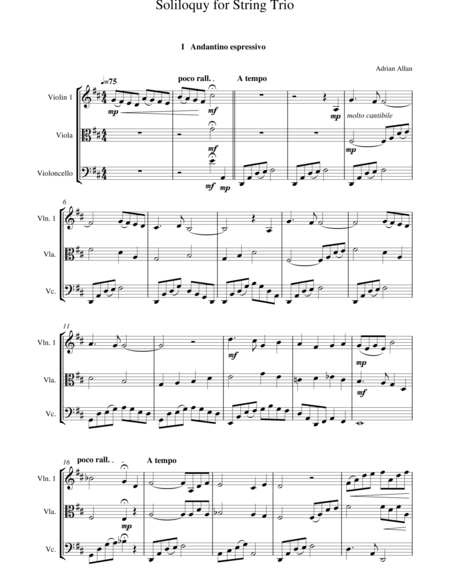 Soliloquy For String Trio