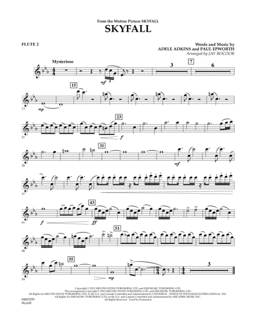 Skyfall - Flute 2