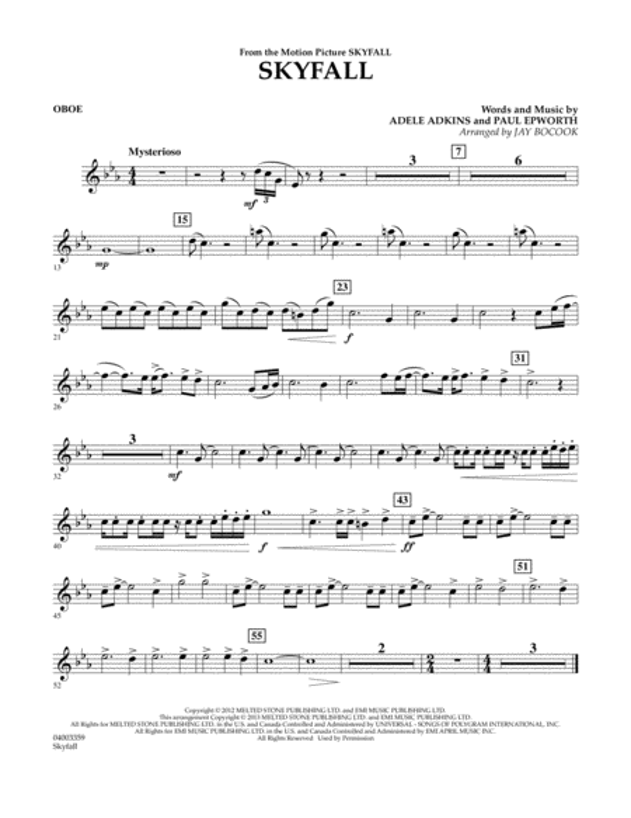 Skyfall - Oboe
