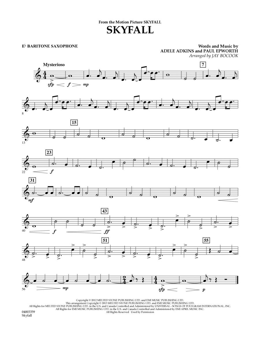 Skyfall - Eb Baritone Saxophone