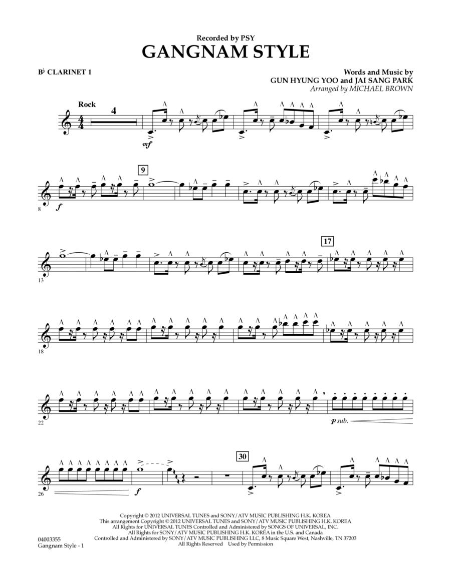 Gangnam Style - Bb Clarinet 1