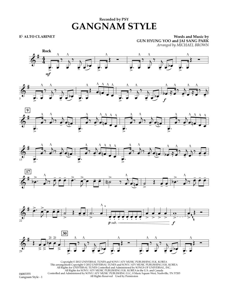 Gangnam Style - Eb Alto Clarinet