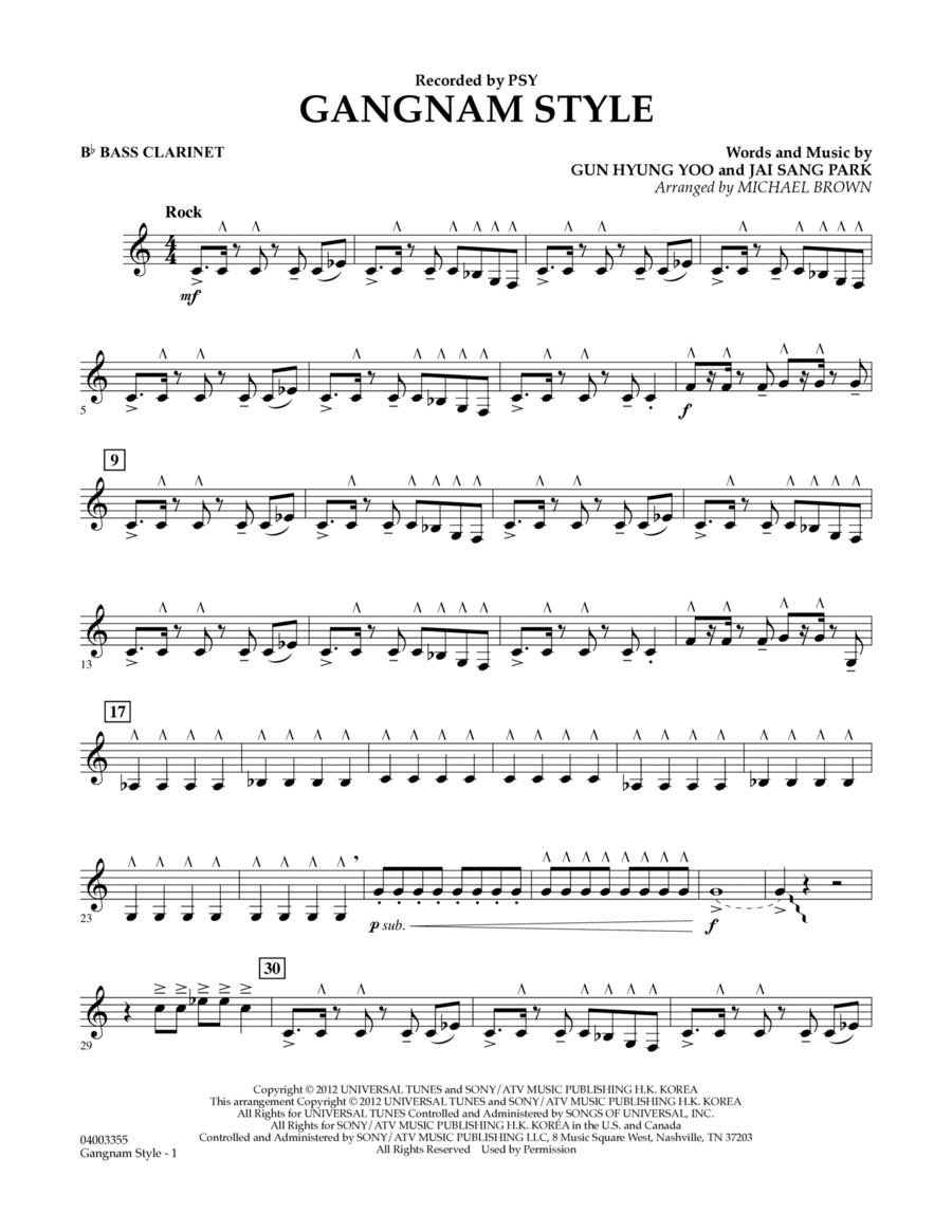 Gangnam Style - Bb Bass Clarinet