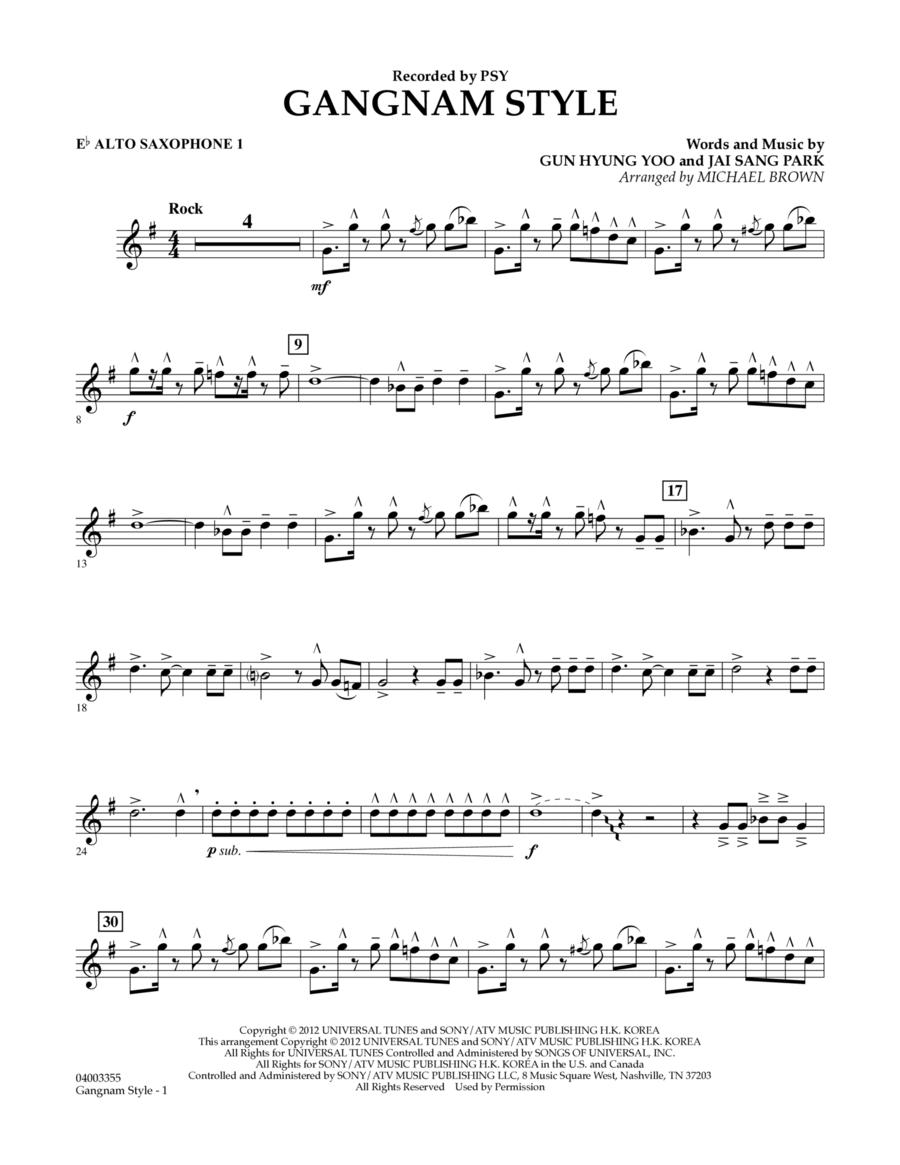 Gangnam Style - Eb Alto Saxophone 1