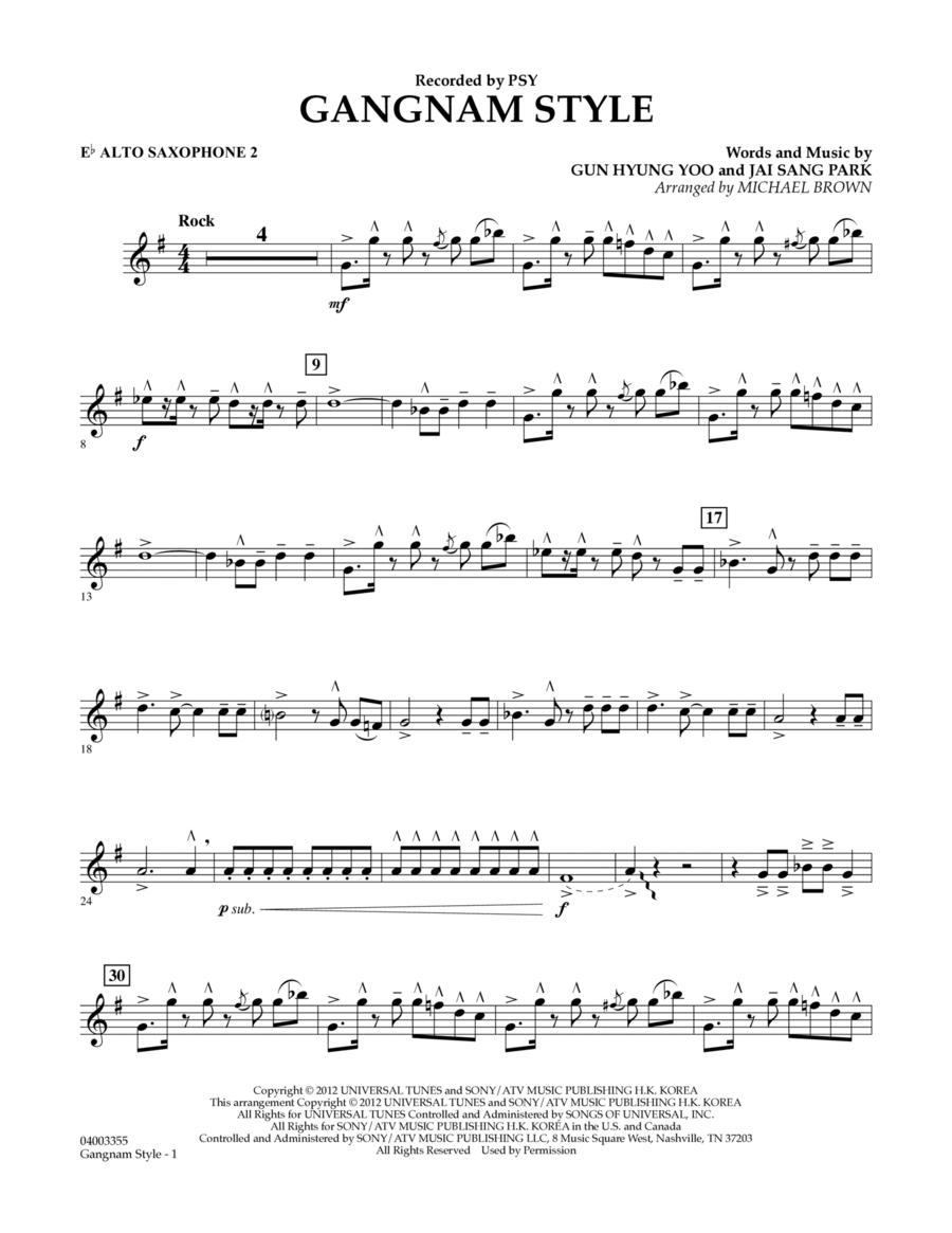 Gangnam Style - Eb Alto Saxophone 2