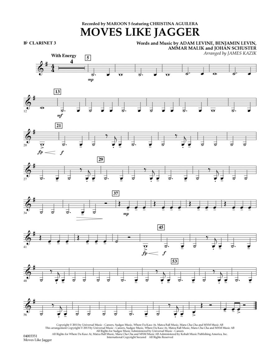 Moves Like Jagger - Bb Clarinet 3