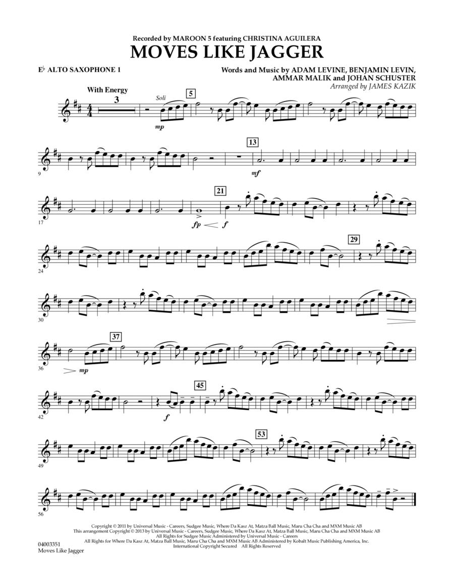 Moves Like Jagger - Eb Alto Saxophone 1
