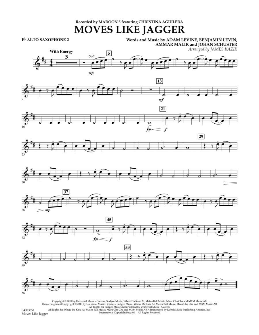 Moves Like Jagger - Eb Alto Saxophone 2