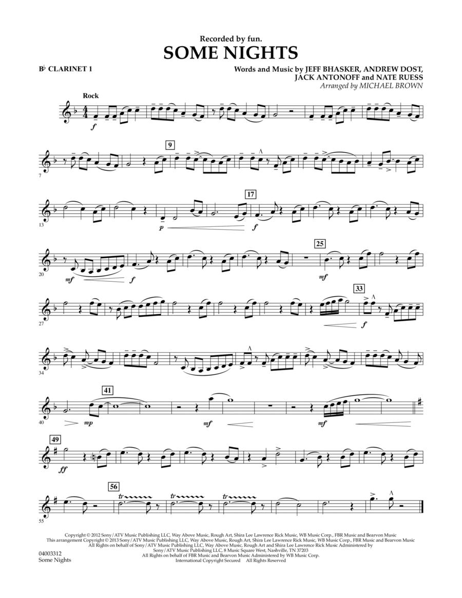 Some Nights - Bb Clarinet 1