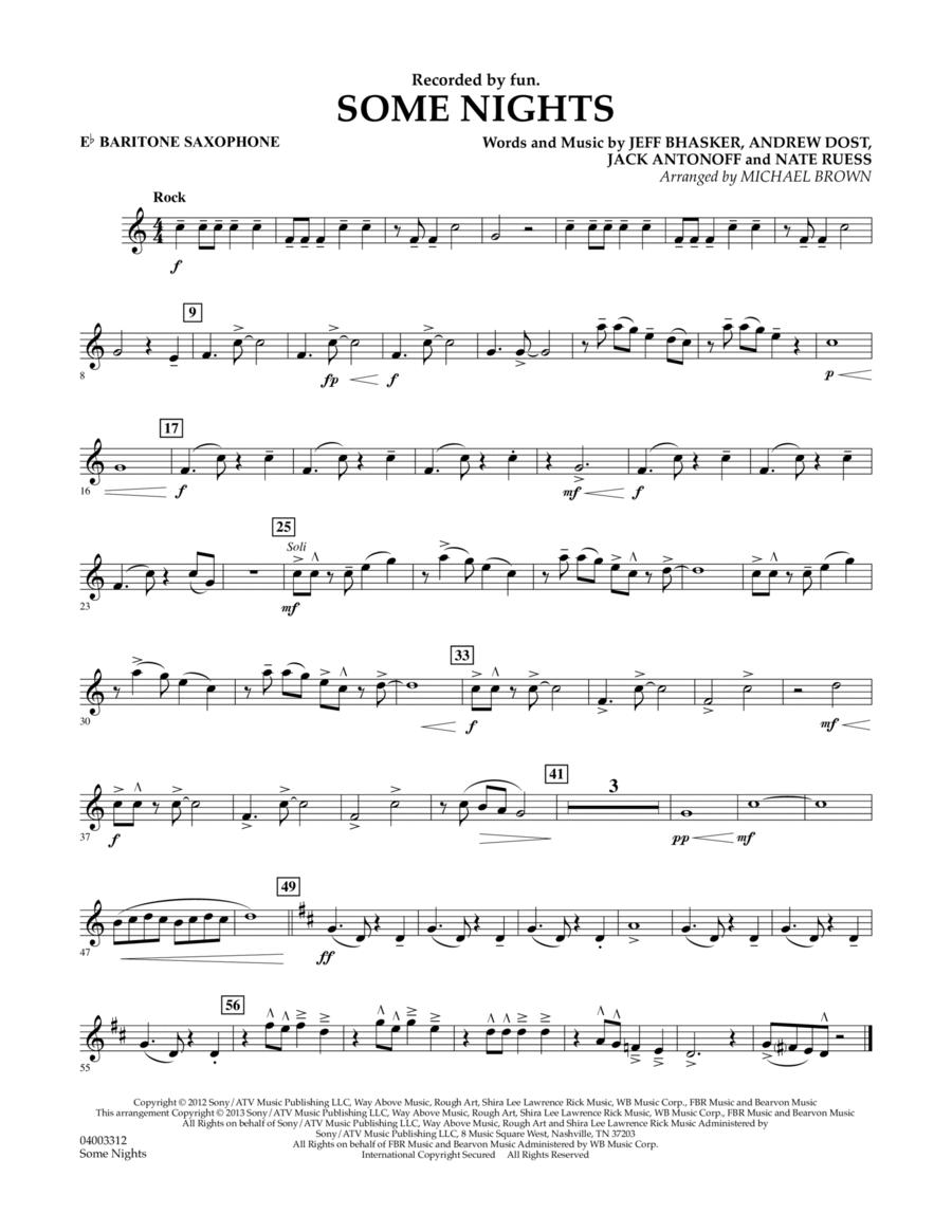 Some Nights - Eb Baritone Saxophone