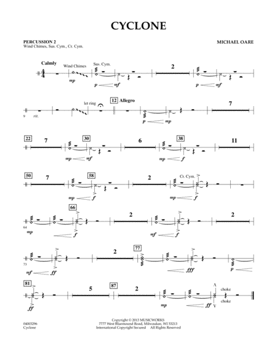 Cyclone - Percussion 2