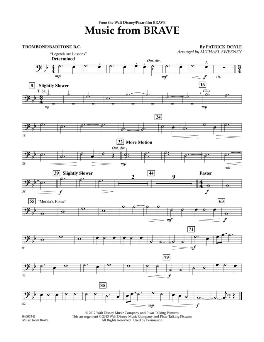 Music From Brave - Trombone/Baritone B.C.
